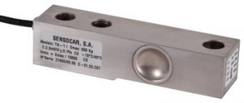 SENSOCAR TA-1, 1t, IP-68, nerez (Tenzometrický střihový snímač pro rohové zatížení SENSOCAR model TA-1)