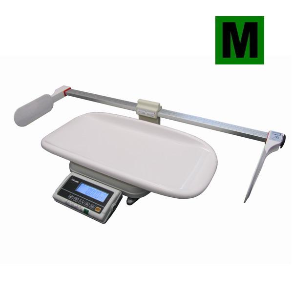 TSCALE FOX-I-BABY-M800, 15;30kg/5;10g, 600mmx280mm (Certifikovaná kojenecká váha s metrem, provoz síťový i bateriový)