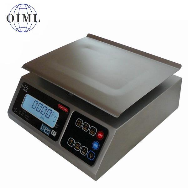 TORREY LEQ-8, 8kg/2g, 245mmx190mm (Kontrolní nerezová gastro váha pro kuchyně, výrobny a sklady)