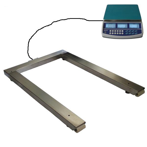 LESAK P4T08121500QHD15PLUS, 15kg/1500kg, 800x1300mm (Počítací sestava pro kontrolní vážení s velkou přesností)