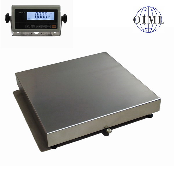LESAK 1T6060LN-RWP, 300kg/50g, 600x600mm, lak/nerez (Váha na úly s odpojitelným vážním indikátorem RWP)