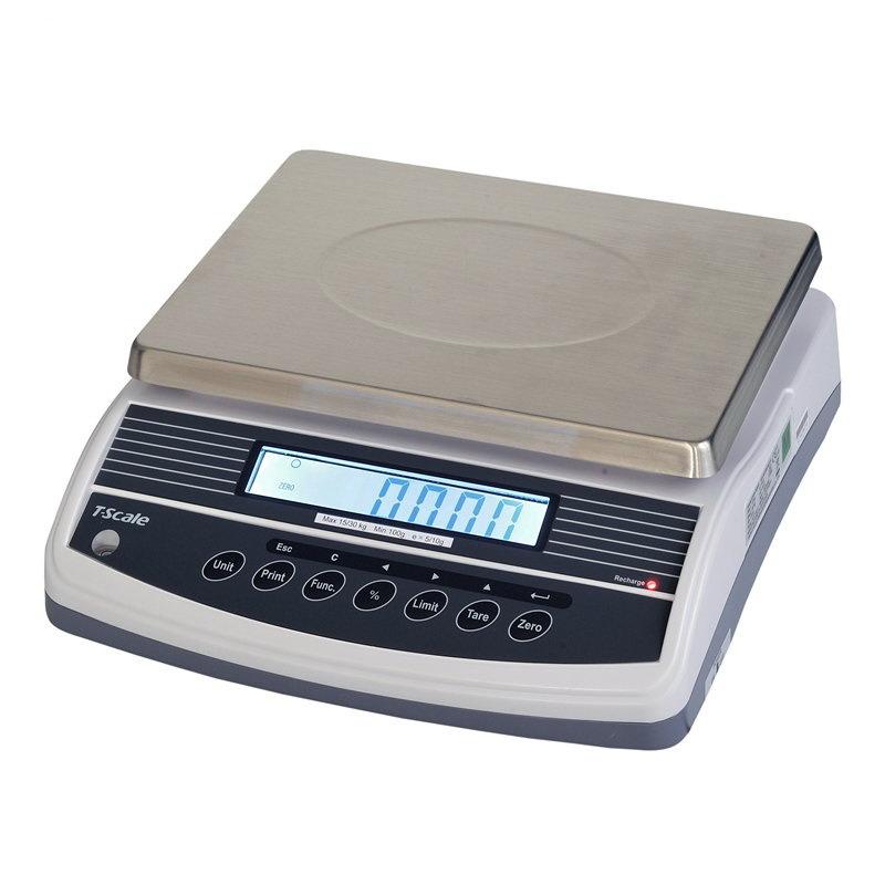 TSCALE QHW++15k, 15kg/0,1g, 300x230mm (Velmi přesná váha s režimem počítání kusů a dalšími funkcemi)