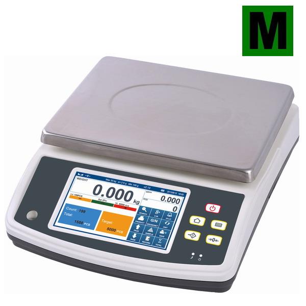 TSCALE Q7-40, 3;6kg/1;2g, 230mmx300mm (Inteligentní počítací váha s režimem počítání kusů a limity, s archivací údajů o vážení, pro obchodní použití)