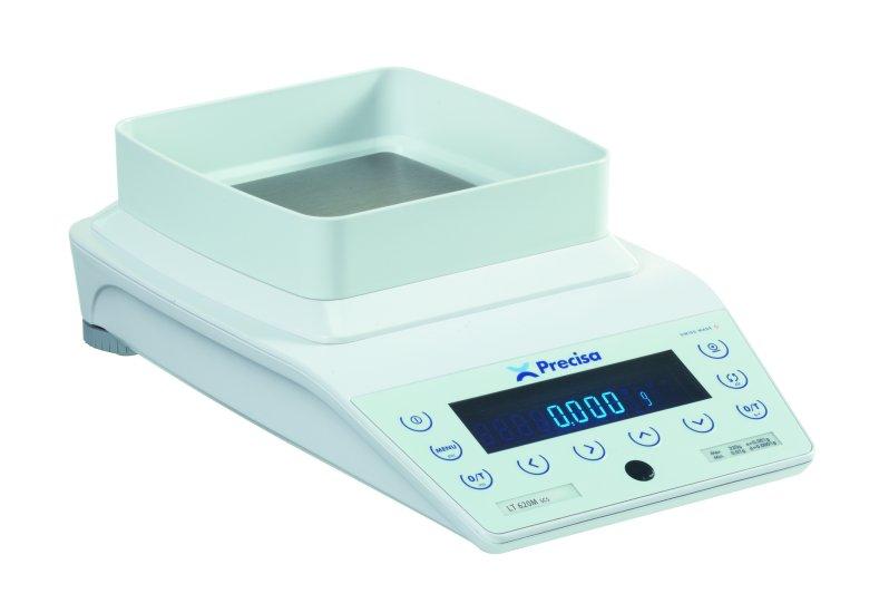 PRECISA LT 620M, 620g/0,001g, 135mmx135mm (Profesionální přesná váha s vnitřní - interní kalibrací)