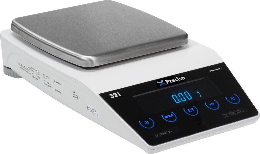 PRECISA LX 2200C, 2200g/0,01g, 135mmx135mm (Profesionální přesná váha s vnitřní - interní kalibrací)