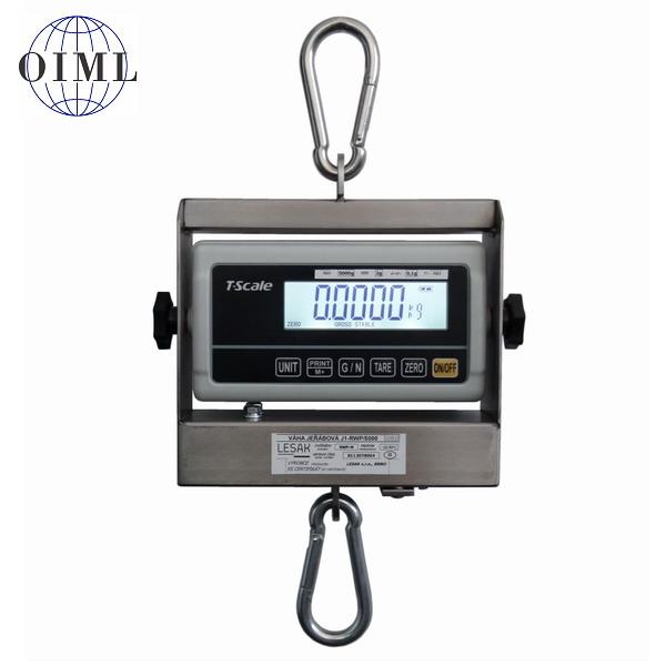LESAK J1-RWP, 15kg/5g (Závěsná/jeřábová váha pro obchodní vážení s LCD displejem)