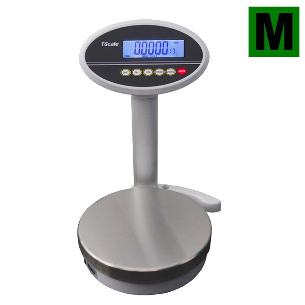 TSCALE ROW, 6;15kg/2;5g, 232mm (Obchodní gastro váha s displejem na stativu)