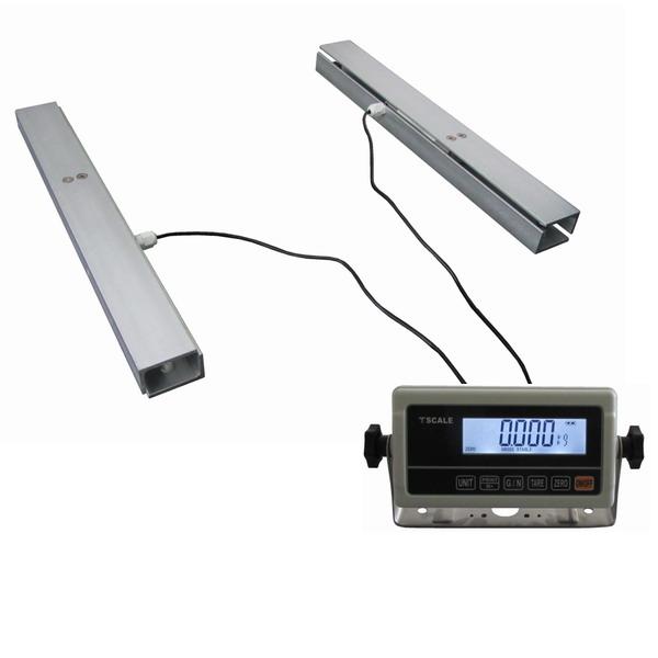 LESAK 2TVLLU45-RWP, 300kg/50g, ližina 450mm, lak (Nízkoprofilová váha na úly s odpojitelným vážním indikátorem RWP)