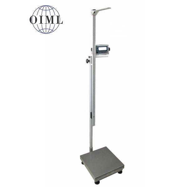 LESAK 1T4040LOV300-BASIC, 150;300kg/50;100g, 400mmx400mm (Certifikovaná osobní váha s výškoměrem pro vážení osob za nízkou cenu)