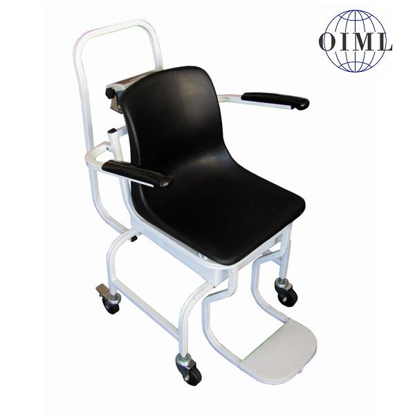 LESAK 1TVKLRWP-BMI, 250kg/100g (Mobilní vážící křeslo pro vážení nemocných a handicapovaných osob s výpočtem BMI)