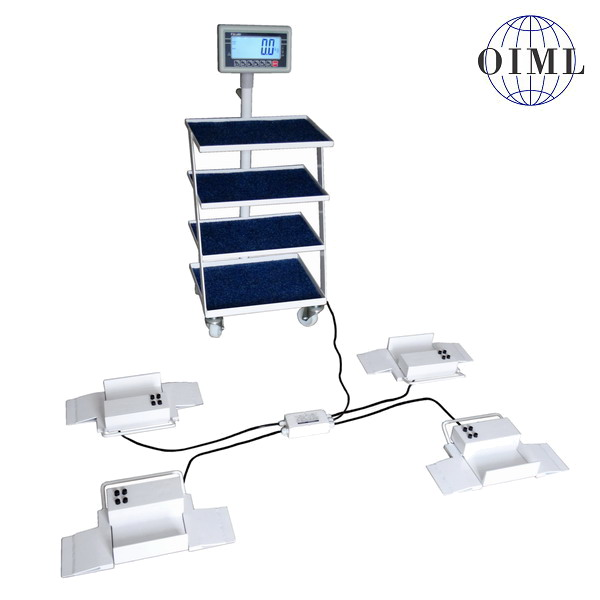 LESAK 4TVPSNLBW500, 500kg/200g (Nízkoprofilová váha na lůžka 4TVPSNLBW300 pro vážení pacientů na pojezdovém lůžku)