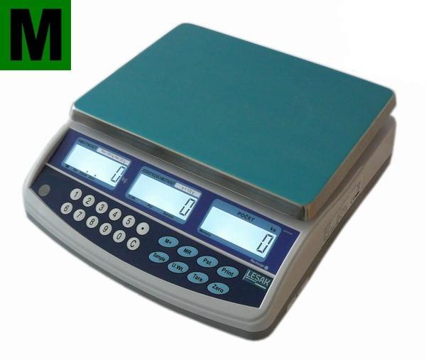 TSCALE QHC06D, 3;6kg/1;2g, 300mmx230mm (Bazarová obchodní počítací váha se zákaznickým displejem)