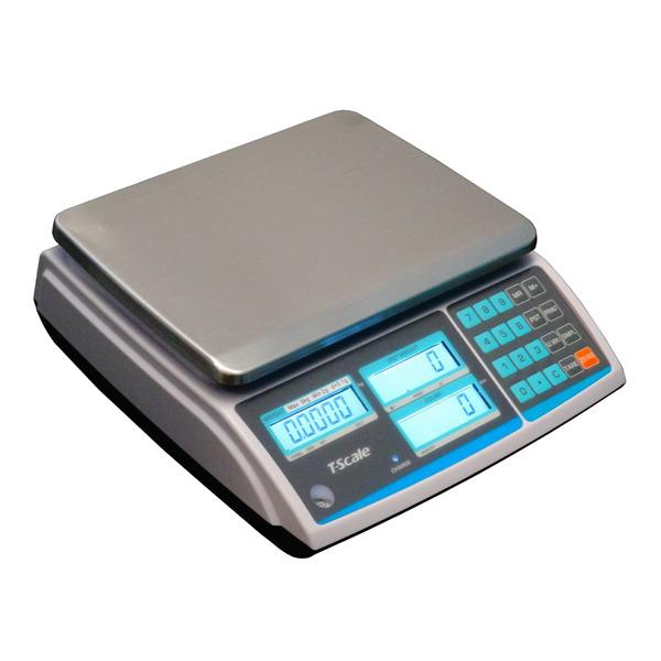 TSCALE ZHC-30+, 30kg/0,5g, 200mmx270mm (Stolní počítací váha pro kontrolní vážení s velkou přesností)