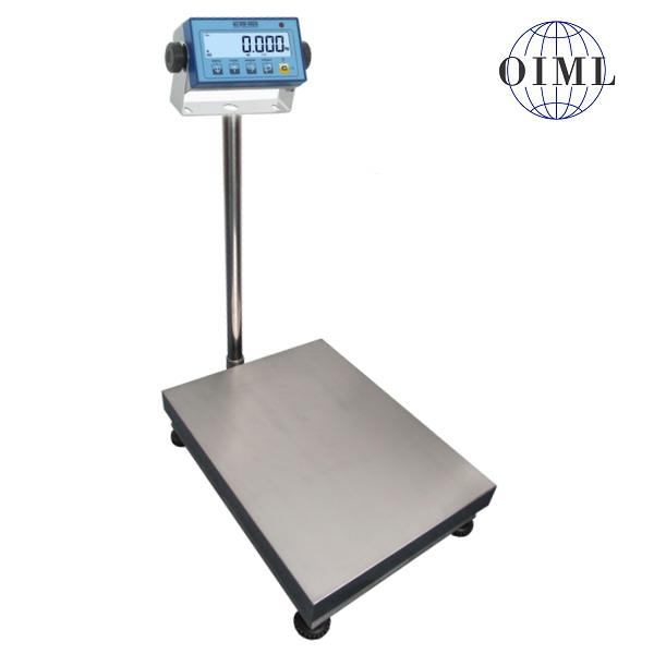LESAK 1T4560LNDFWL, 150kg/50g, 450mmx600mm, lak/nerez (Můstková váha pro příjem nebo expedici zboží s vážním indikátorem DFWL)