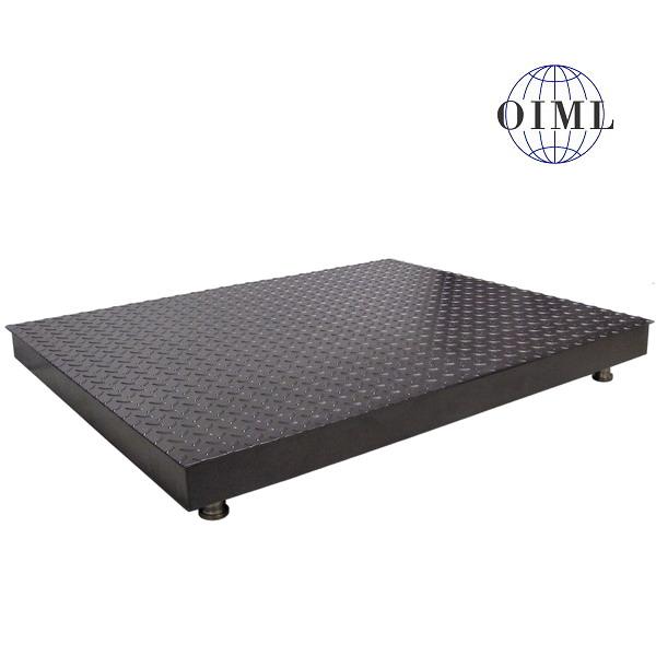LESAK 4T1010PL, 1500kg, 1000x1000mm, lak (Podlahová váha v lakovaném provedení bez vážního indikátoru)