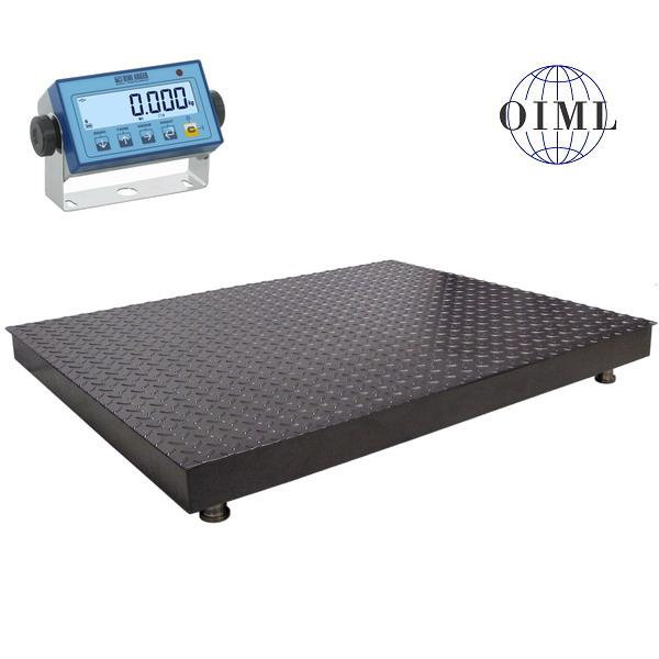 LESAK 4T1010PLDFWL, 1500kg/500g, 1000x1000mm, lak (Podlahová váha v lakovaném provedení s vážním indikátorem DFWL)