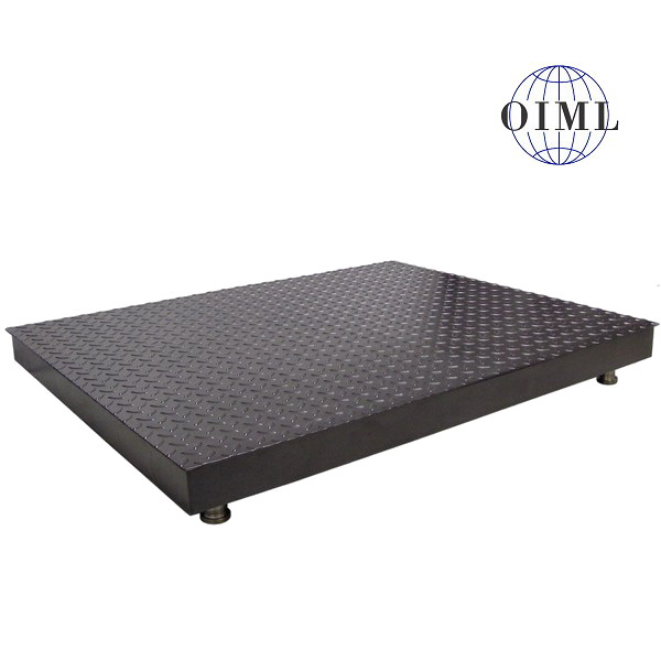 LESAK 4T1515PL, 1500kg, 1500x1500mm, lak (Podlahová váha v lakovaném provedení bez vážního indikátoru)
