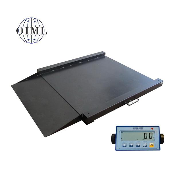 LESAK 4TU1010L-DFWL, 1500kg/500g, 1000x1000mm, lak (Lakovaná nájezdová váha se sníženou vážní plochou včetně indikátoru)