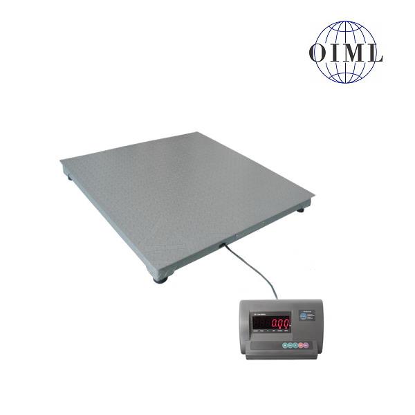 LESAK 4T1010L-MB-DFWL, 600kg/200g, 1000mmx1000mm, lak (Podlahová váha v lakovaném provedení s vážním indikátorem)