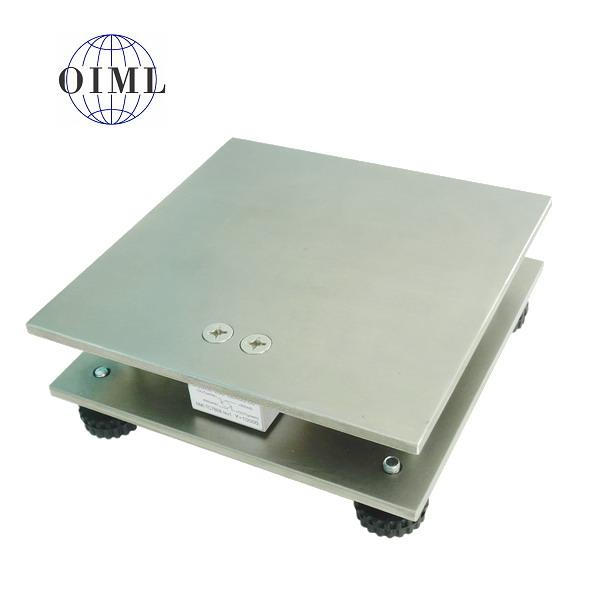 LESAK 1T2020NN, 15kg, 200x200mm, nerez (Vážní můstek v nerezovém provedení bez vážního indikátoru)