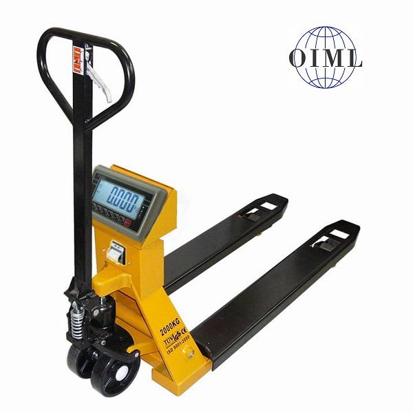 LESAK PV4TBWP2000, 2t/1kg, 550mmx1150mm (Paletový vozík s váhou do 2000kg se zabudovanou tiskárnou)