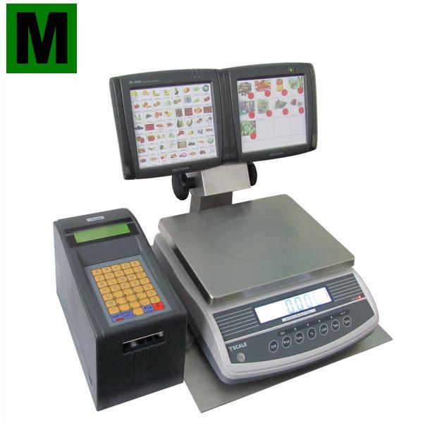 LESAK SOV-3000, 6kg/0,05g, 300mmx230mm (Obchodní váha pro samoobslužný prodej s tiskem etiket)