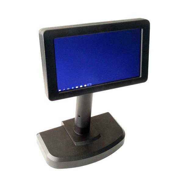 """LESAK ZM7, Zákaznický monitor LCD 7"""" - černý (Zákaznický TFT LCD monitor s úhlopříčkou 7 palců k POS systému)"""