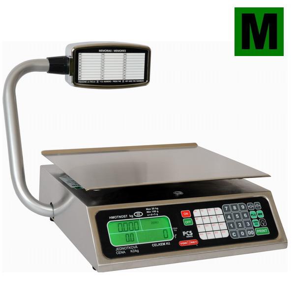 TORREY PCS-20T, 20kg/5g, 350mmx280mm (Obchodní váha s výpočtem ceny a displejem na stativu)