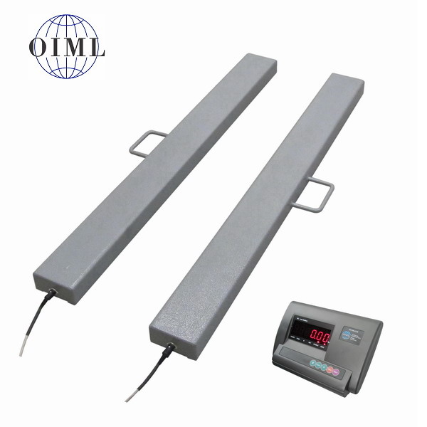 LESAK 4TVLL1250A12, 600kg/200g, 120mmx1250mm, lak (Ližinové váhy na palety v lakovaném provedení)