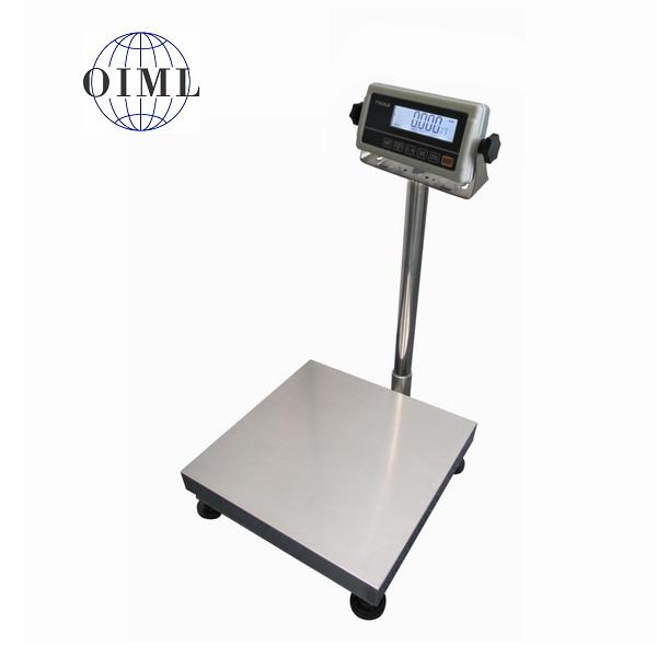 LESAK 1T5050LN-RWP/DR, 150;300kg/50;100g, 500x500mm, l/n (Můstková váha pro příjem nebo expedici zboží s vážním indikátorem RWP)