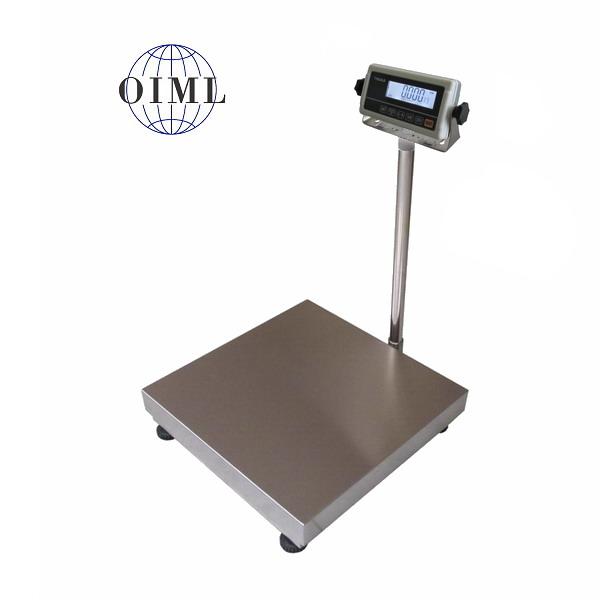 LESAK 1T6060LN-RWP/DR, 150;300kg/50;100g, 600x600mm, l/n (Můstková váha pro příjem nebo expedici zboží s vážním indikátorem RWP)