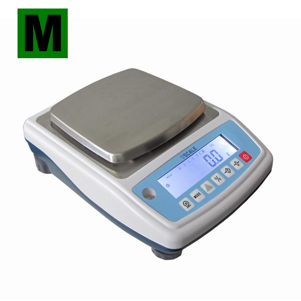 TSCALE NHB6000M, 6000g/0,1g, 140mmx150mm (Profesionální ověřená laboratorní váha pro přesné vážení)