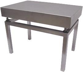 Stolek nerezový VS6080/500 pod váhy 1T6080 (Vážní stolek pro umístění můstkové váhy)