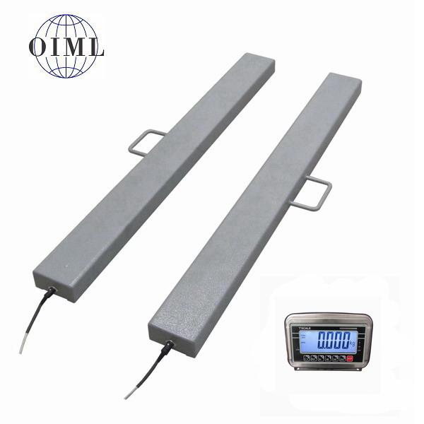 LESAK 4TVLN1250BWS, 3t/1kg, 120mmx1250mm (Ližinové váhy na palety v nerezovém provedení)