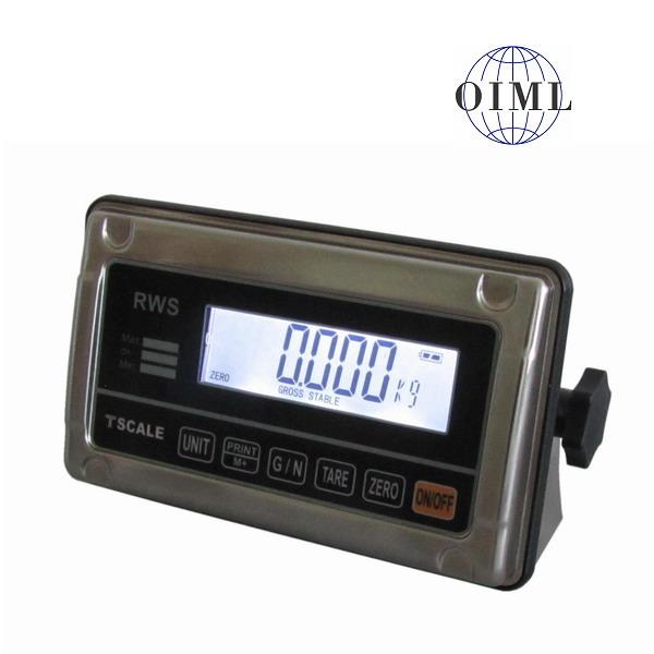 TSCALE RWS, IP-65, nerez, LCD (Vážní indikátor pro obchodní vážení)