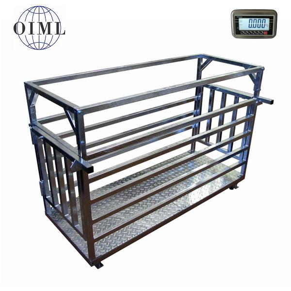 LESAK 4TD0615PZ, 150kg/100g, 600x1500mm, zinek (Váha na prasata v zinkovaném provedení)