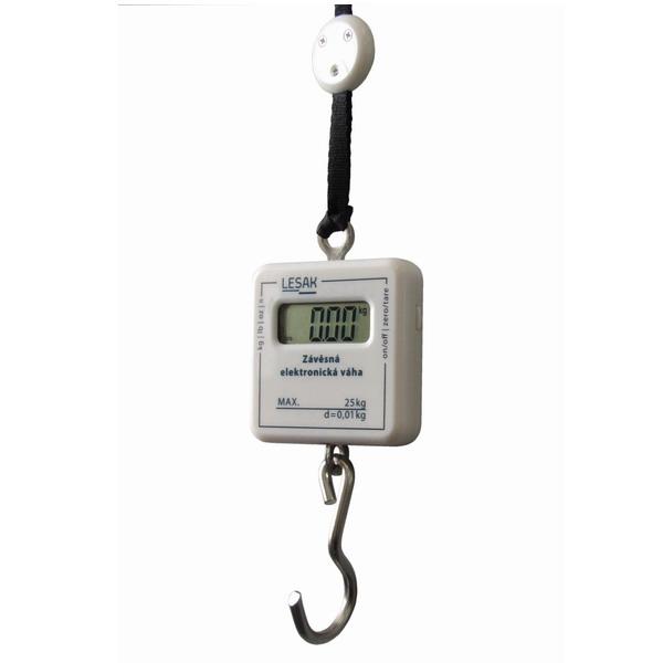 LESAK ZEV, 25kg/10g (Ruční závěsná váha na zavazadla do 25kg s přesností 10g)