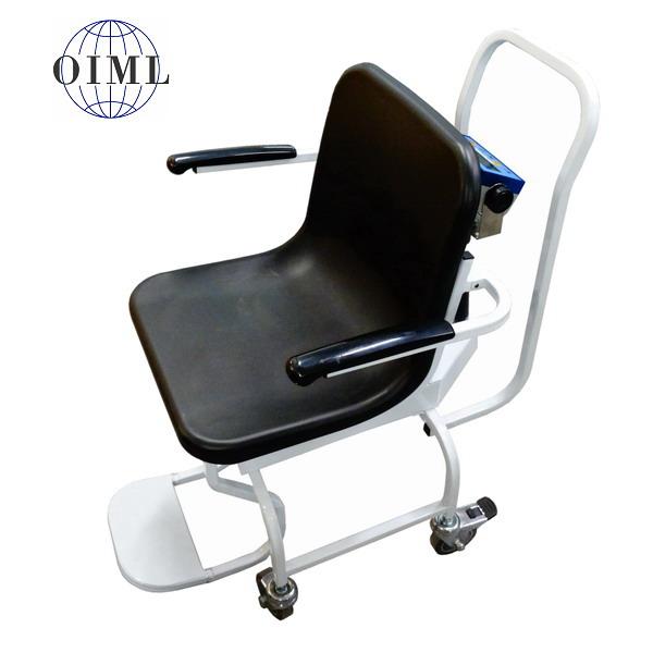 LESAK 1TVKLDFWLB, 250kg/100g (Mobilní vážící křeslo pro vážení nemocných a handicapovaných osob)