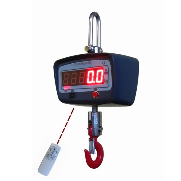 LESAK ZEV-1000, 1t/500g ( Závěsná/jeřábová váha s dálkovým ovládáním a svítícím LED displejem)