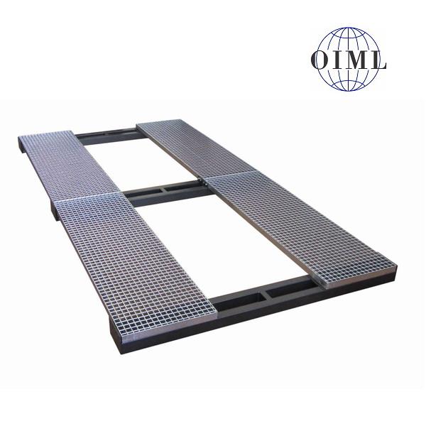 LESAK MAV2040RL, 3t/1kg, 2mx4m (Podlahová vážní plošina pro vážení autovraků se zátěžovým roštem)