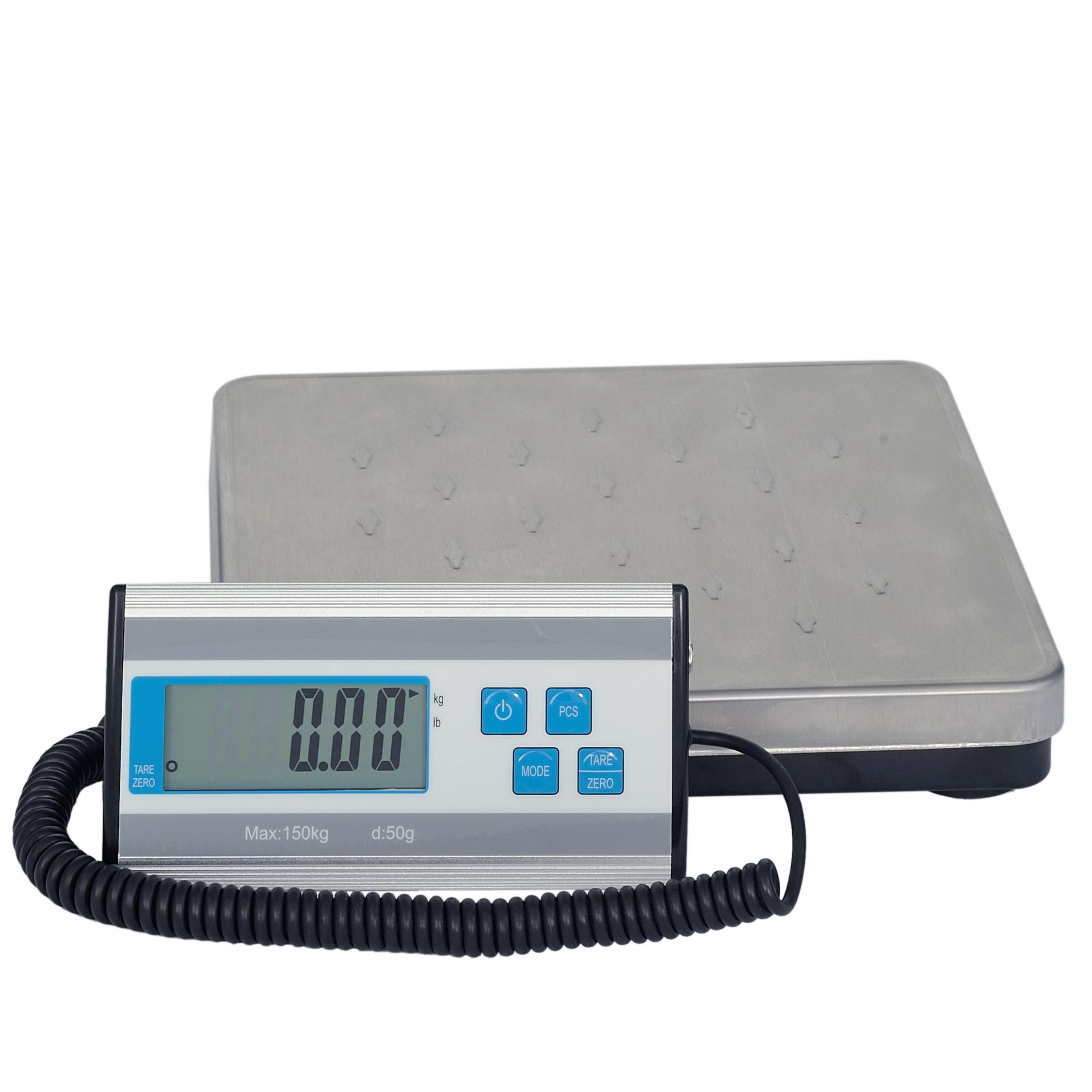 LESAK HCG, 150kg/50g, 270mmx270mm (Levná balíková váha pro kontrolní vážení s odděleným displejem a kufříkem)