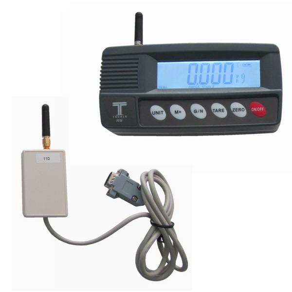 TSCALE RW-WI, IP-54, plast, LCD (Bezdrátový vážní indikátor pro vzdálené vážení s provozem ze sítě i na baterii)