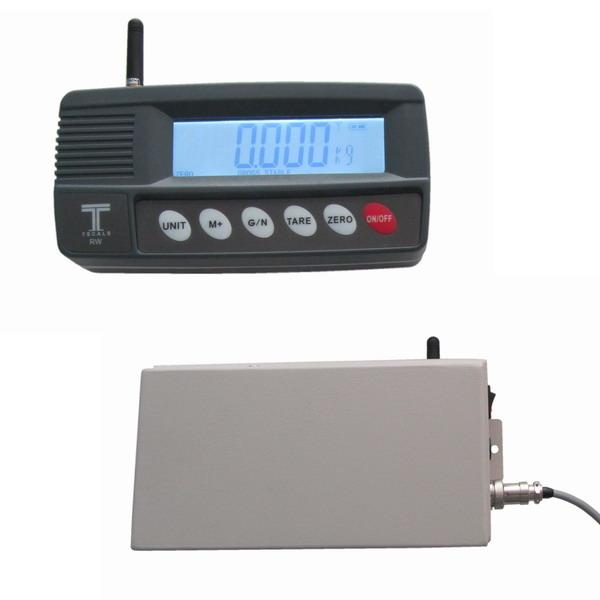 TSCALE RW-WII, IP-54, plast, LCD (Bezdrátový vážní indikátor pro vzdálené připojení ke snímači)