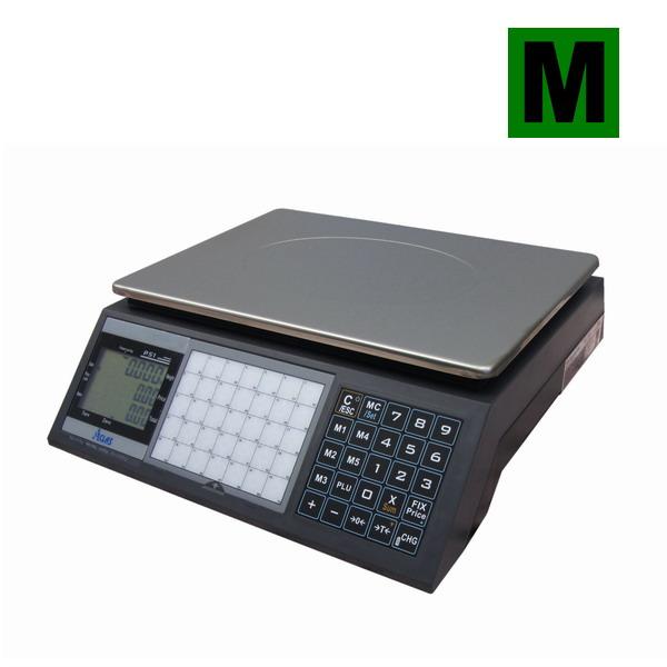 ACLAS PS1-15DS, 6;15kg/2;5g, 330mmx230mm (Obchodní pultová váha s výpočtem ceny v nízkém provedení)