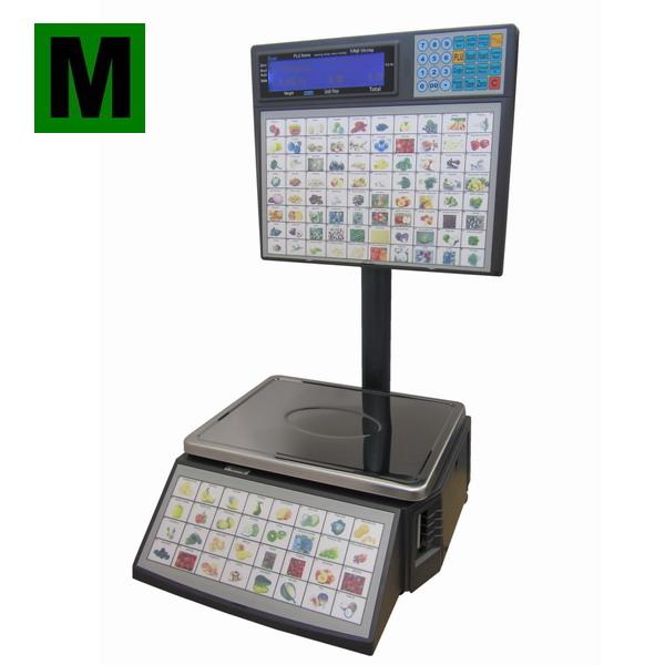 ACLAS LS2S615, 6;15kg/2;5g, 345mmx264mm (Váha s tiskem etiket pro samoobslužný prodej do 15kg, ES ověřená)