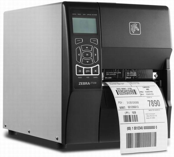 ZEBRA ZT230 (Termotransferová tiskárna, průmyslová, s odlepovacím a navíjecím modulem)