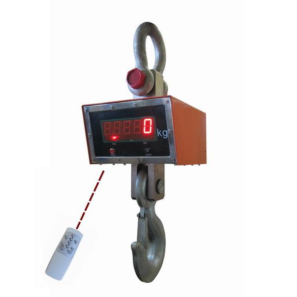 LESAK JEV, 20t/10kg (Závěsná/jeřábová váha s dálkovým ovládáním a svítícím LED displejem)