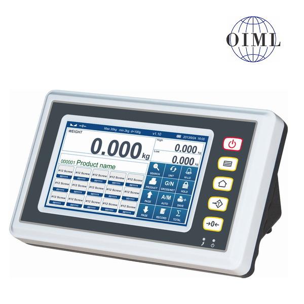 TSCALE B7, IP-54, plast, LCD dotykový displej (Inteligentní indikátor s režimem počítání kusů a kontrolu limitu výrobku, pro obchodní vážení)