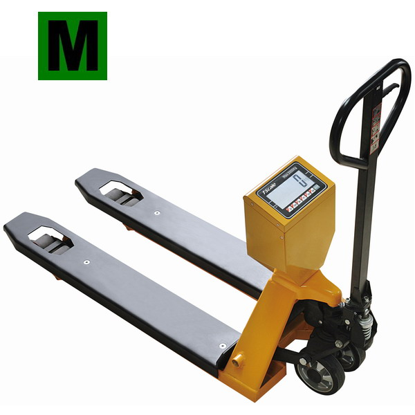 TSCALE TPS-I, 2t/1kg, 555x1160mm (Paletový vozík s váhou do 2000kg, včetně EU posouzení shody)