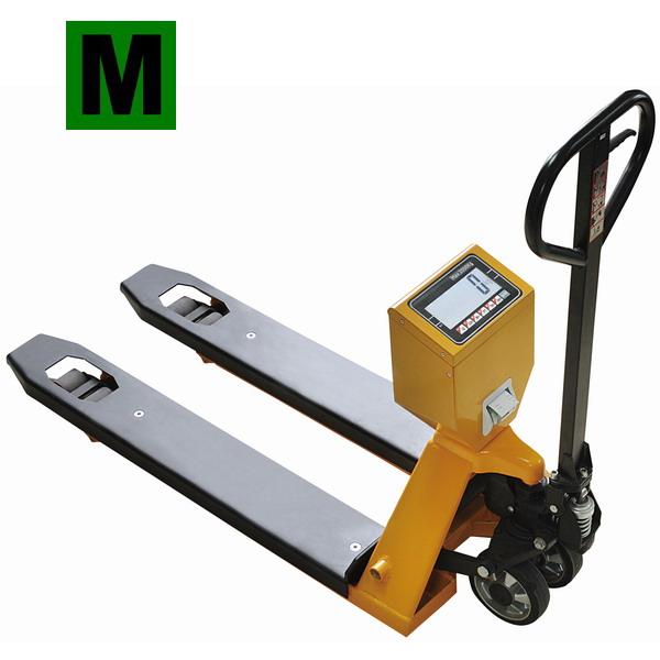 TSCALE TPS-II, 2t/1kg, 555x1160mm (Paletový vážící vozík do 2000kg, s tiskárnou, včetně EU posouzení shody)
